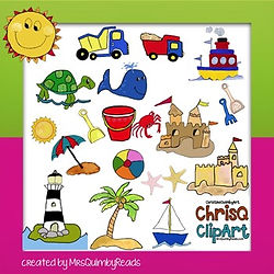 teaching resources, clip art, at the beach clip art, mrsquimbyreads, teaching, elementary school, primary grades