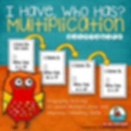 teaching resources, multiplication, i have who has, MrsQuimbyReads, multiplication practice