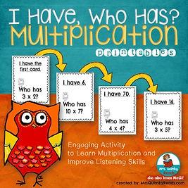 multiplication lessons, teaching resources, math activities, listening activity, MrsQuimbyReads, teacher lesson plans