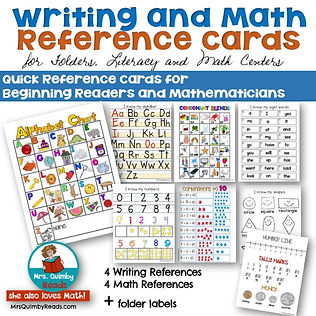 writing-and-math-reference-cards-for-kindergarten