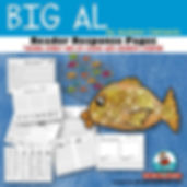 Big Al, Children's Literature, teaching with books in first grade, reading response graphic organizers, write about reading
