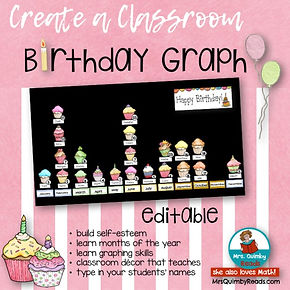 graphing, primary grades, math class, create a birthday graph,