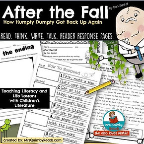 After the Fall, Children's Literature, teaching life lessons, back-to-school books to read, MrsQuimbyReads, teaching resources, teach literacy, reading response graphic organizers