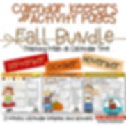 calendar keepers, fall bundle, math centers, calendar math, teaching resources