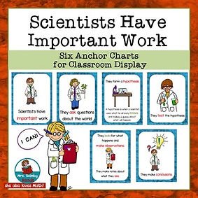 anchor charts, scientists have important work, teaching resources, elementary school, science, mrsquimbyreads