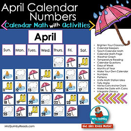 Calendar Math for April