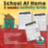 choice boards for school at home