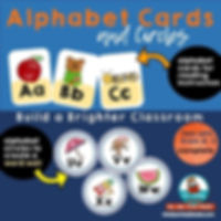 alphabet cards, kindergarten, classroom decor
