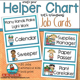 helper chart, primary grades, teaching resources, student behavio, student helper chart