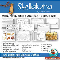 stellaluna, children's literature, reader response pages, writing prompts, MrsQuimbyReads, teach reading