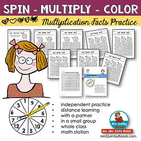 multiplication practice-spin and multipl