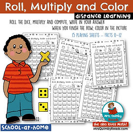 multiplication - roll, multiply, color