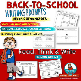Writing Prompts for Back to school