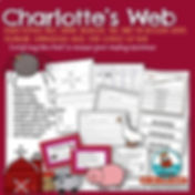 Charlotte's Web, children's literature, writing prompts for reading, teacher resources, vocabulary, literature study pages, E.B. White, compare and contrast, character study