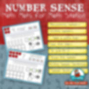 number sense, math mats, addends to 10, math station, primary grades