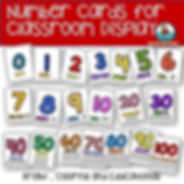 number cards for display