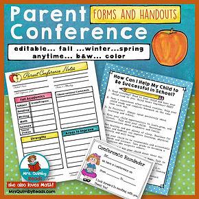 parent conference notes, parent conference forms