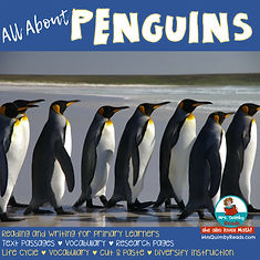 penguins, learn about penguins, reading and writing about penguins