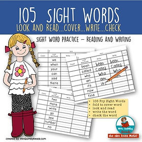 sight words, primary grades, learning to read, sight word practice