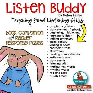 children's literatur, MrsQuimbyReads, Listen Buddy book companion