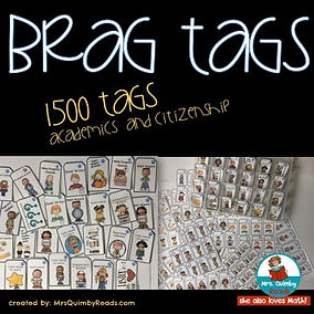 brag tags, MrsQuimbyReads, teaching resources, teaching citizenship
