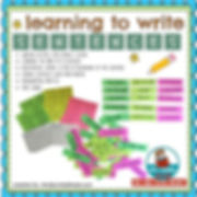 learning to write sentences, first grade writing, teach writing, building sentences, learning to write