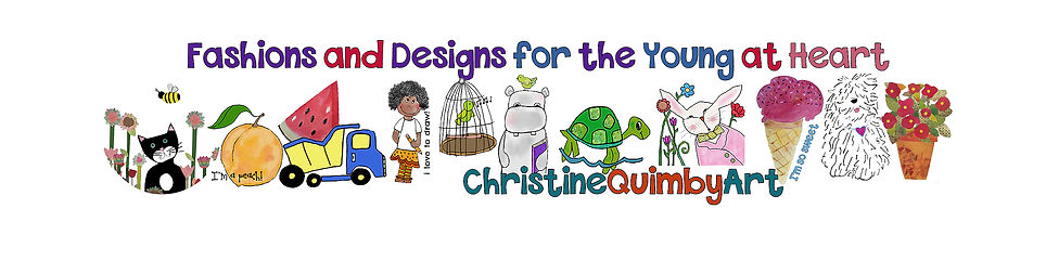 christine quimby art, kids' fashions