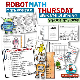Math Practice with Robots
