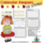 calendar keepers for september, teaching resources, math, primary grades