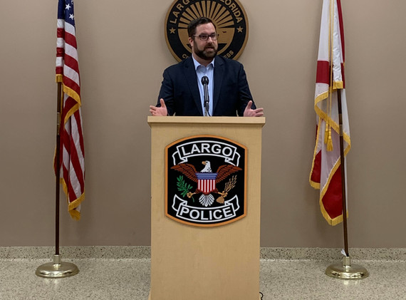 Announcement of Jordan's Law with the Largo Police Department.