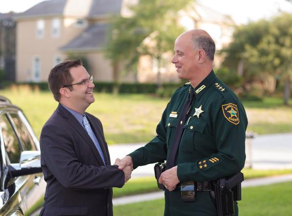 Chris with Pinellas County Sheriff, Bob Gauliteri.