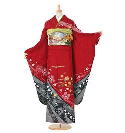 B1 振袖 ¥14,800+税  絞り 総刺繍