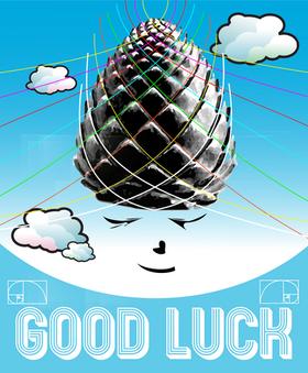 Good Luck Sticker - Pinecone