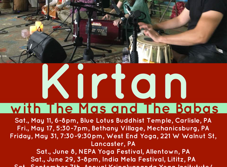 Upcoming Kirtan