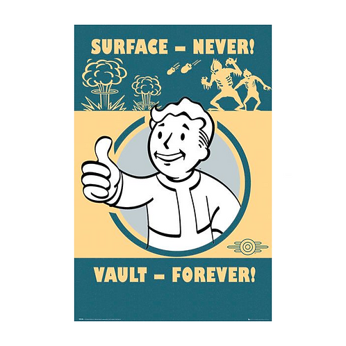 4 - Vault Forever Poster - Fallout