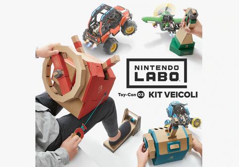 Nintendo annuncia il nuovo Kit Veicoli Nintendo Labo, sarà disponibile da metà settembre (video)