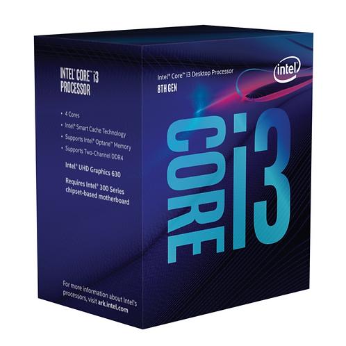Intel Core ® ™ i3-8100 Processor (6M Cache, 3.60 GHz) 3.6GHz 6MB Cache intellige