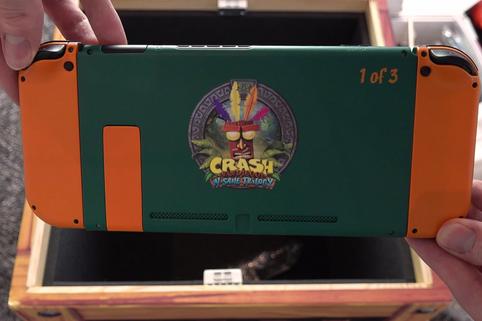 Nintendo Switch, una limited griffata Crash Bandicoot regalata ad alcuni youtuber