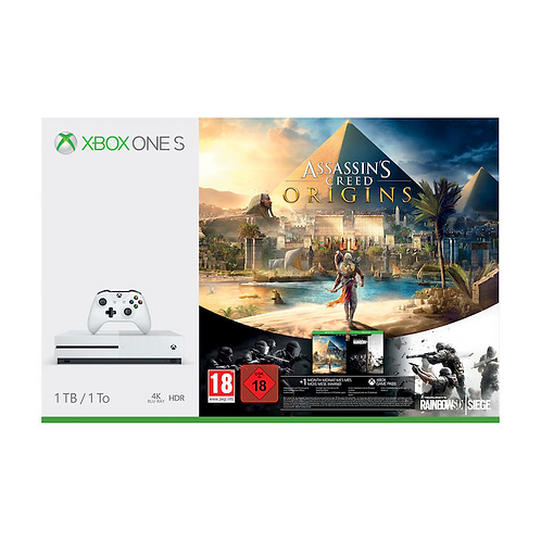 MICROSOFT Xbox One S 1TB + Assassin's Creed + Rainbow Six Siege