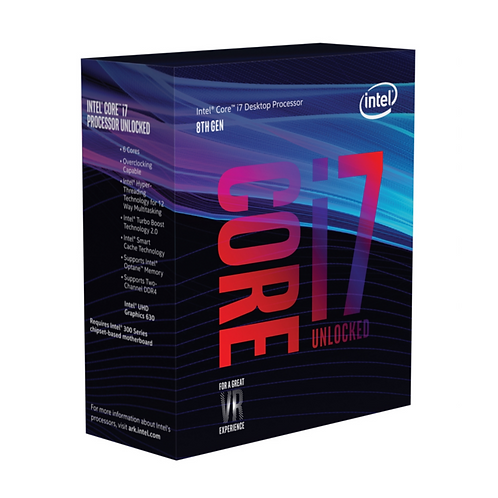 Intel Core ® ™ i7-8700K Processor (12M Cache, up to 4.70 GHz) 3.7GHz 12MB Cache