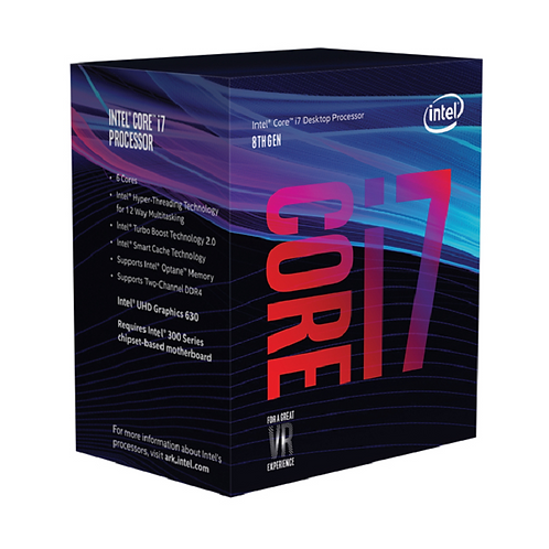 Intel Core ® ™ i7-8700 Processor (12M Cache, up to 4.60 GHz) 3.2GHz 12MB Cache i