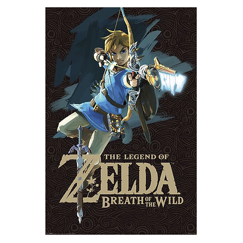 Breath Of The Wild - Game Cover Poster - The Legend Of Zelda
