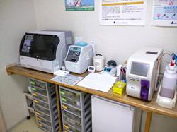 血液検査の機械です