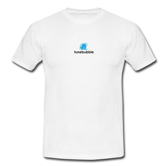 White Tunebubble Logo T-shirt