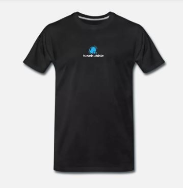 Black Tunebubble Logo T-shirt