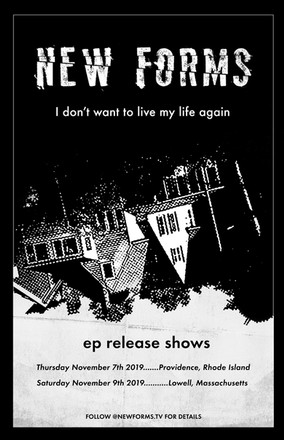 NEW FORMS EP RELEASE POSTER