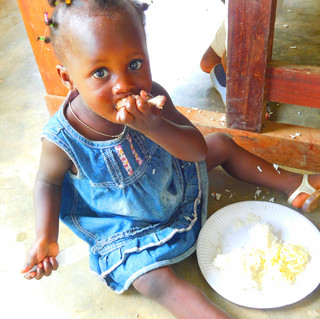 She was looking at me while I was taking some pictures. She really liked rice.