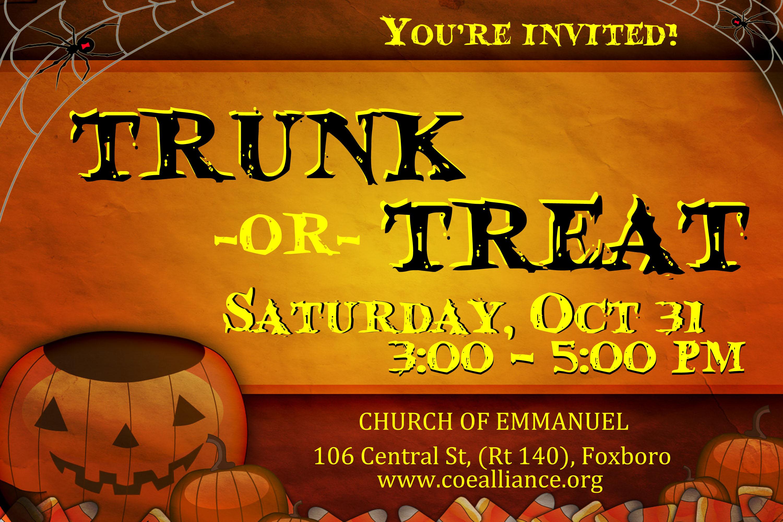 Trunk or Treat Invite