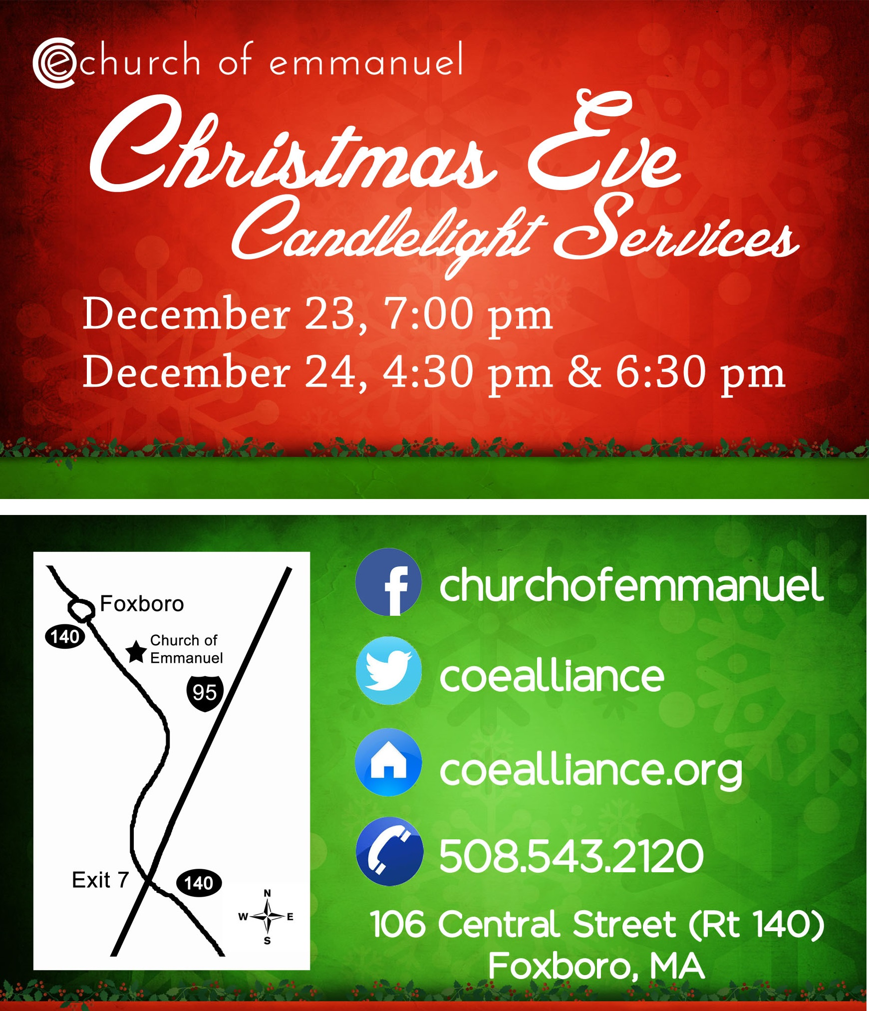 Christmas Eve Invite Card