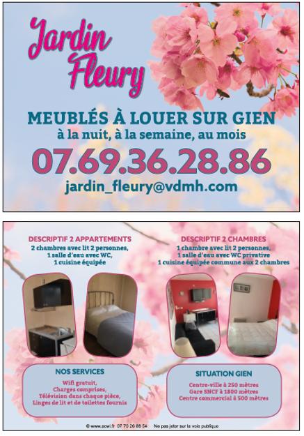 JARDIN FLEURY meublés